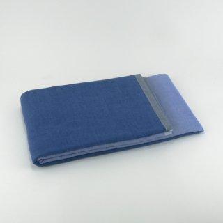 2トーンシャンブレー バスタオル(ブルー2)
