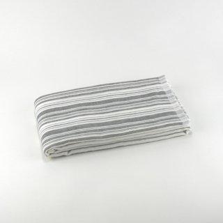 シャツストライプ コンパクトバスタオル(Cブラック)