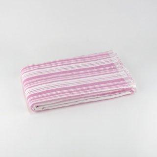 シャツストライプ コンパクトバスタオル(Cピンク)