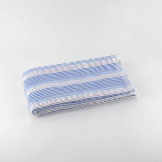 シャツストライプ コンパクトバスタオル(Fブルー)
