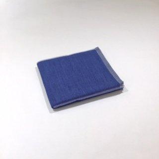 2トーンシャンブレー フェイスタオル(ブルー2)