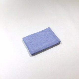 2トーンシャンブレー ウォッシュタオル(ブルー1A)