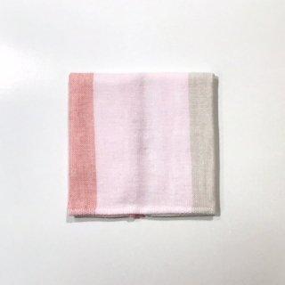 トリコロールシャンブレー ミニタオル(ピンク)