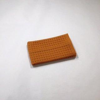 ワッフル&ガーゼ ウォッシュタオル(オレンジ)