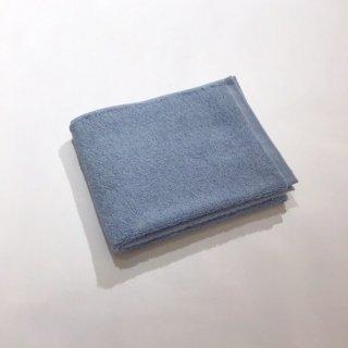 カラーパイル フェイスタオル(ブルー)