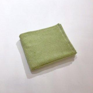 カラーパイル フェイスタオル(グリーン)