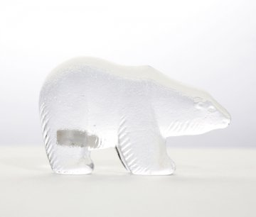 ROYAL KRONA Glass Polar Bear