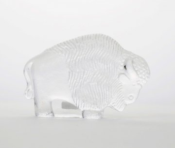 ROYAL KRONA Glass Bison