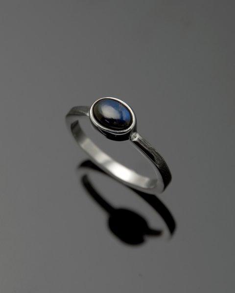 2019 SILVER PERSPIRATION<br>Black labradorite silver ring LLR-007blr<br>