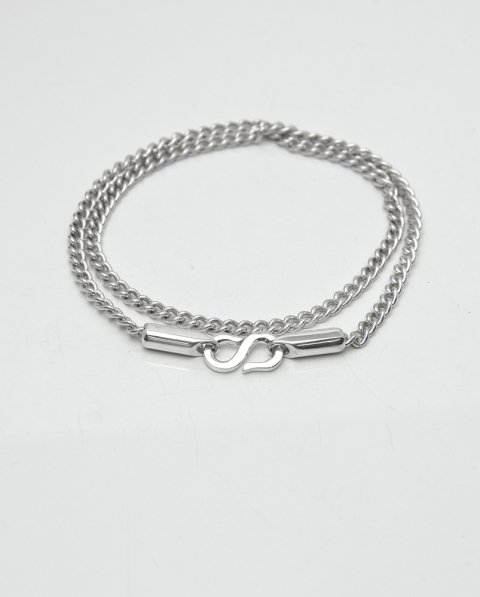 Aug. 2020 Leaves Strength <br>Silver chain bracelet LLB-008CH<br>