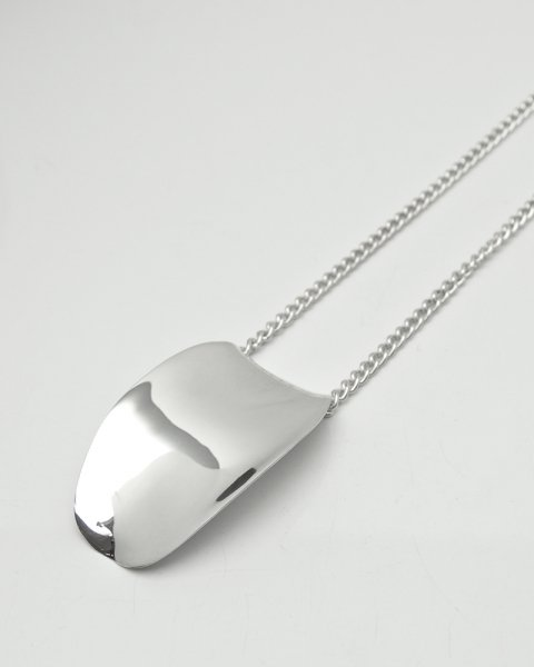 Aug. 2020 Leaves Strength <br>Large leaf Silver×Leather necklace LLN-010CH<br>