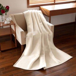 〈バージンウール〉毛布 Genf White