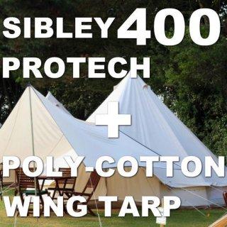シブレー400プロテック+ポリコットンウィングタープ セット