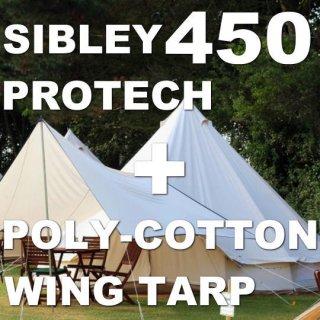 シブレー450プロテック+ポリコットンウィングタープ セット