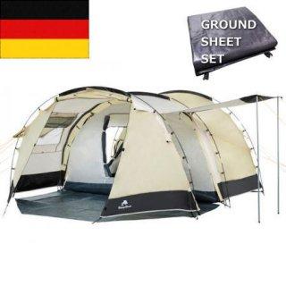 CAMP FEUER トンネル4 サンドベージュxアイボリー 4人用テント