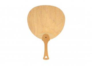 木製うちわ 木の風 L