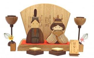 木製ひな人形DXセット(桐箱入り)