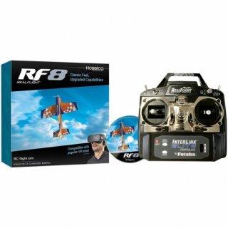 リアルフライト8 インターリンクエディション(Mode1送信機フルスプリング仕様、DVD付属セット) - RealFlight 8 R/C Simulator
