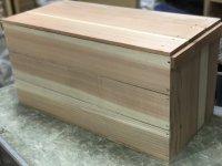 青森県産 杉材使用 木箱   蓋付きりんご箱セット