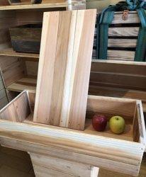 りんご箱 高さ半分 蓋付