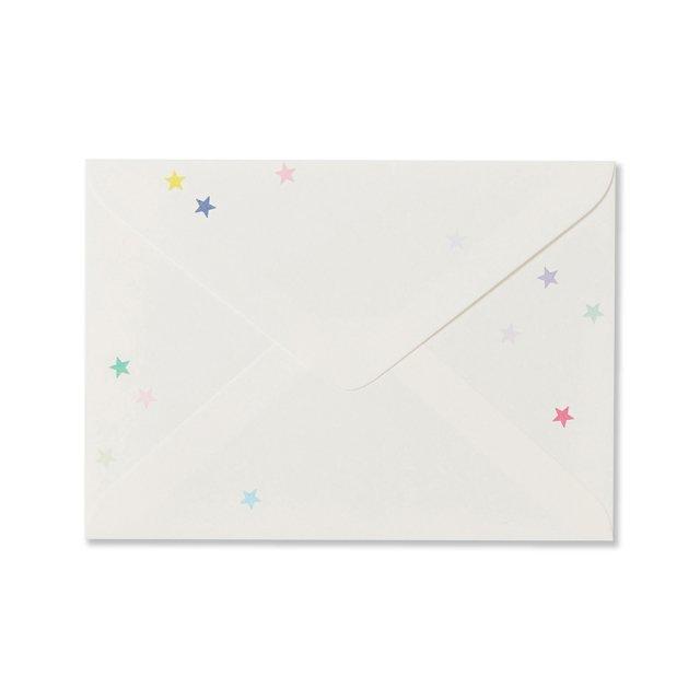 封筒 和紙 星