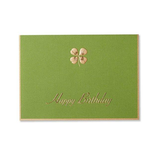 カード 四葉のクローバー グリーン BIRTH