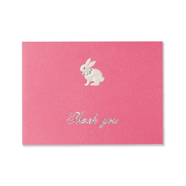 カード ウサギ THANK YOU