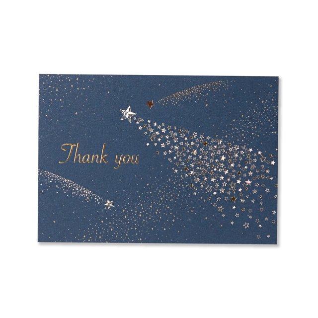 カード 流れ星 THANK YOU