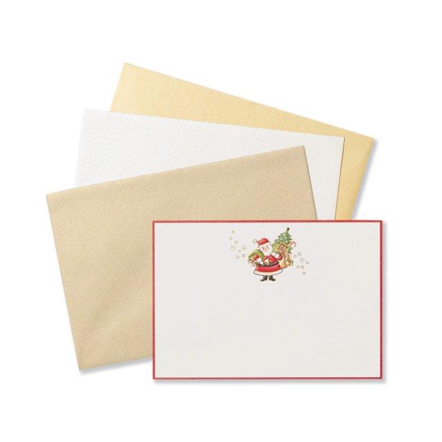ショートメッセージカードセット サンタクロース