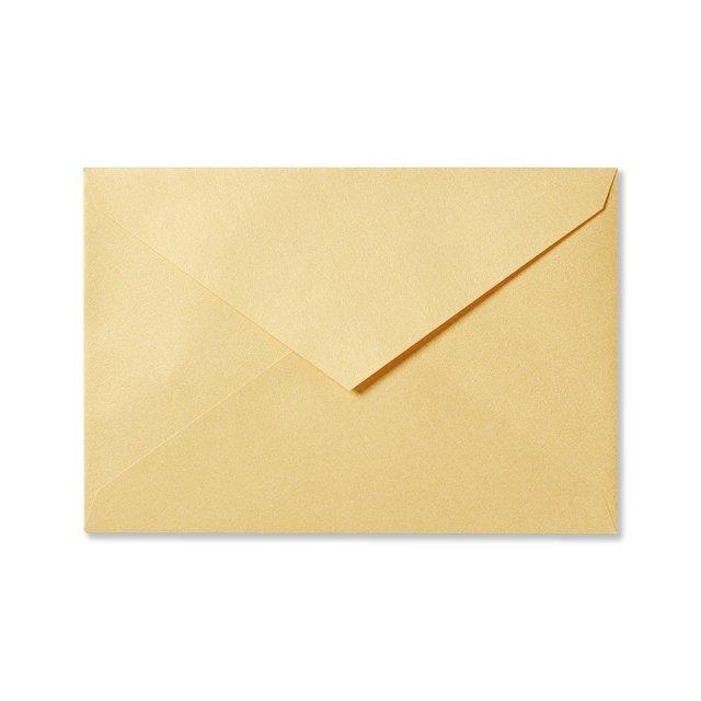 カラー封筒 洋1 5枚 イエローゴールド