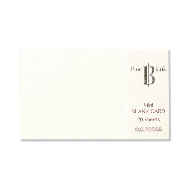 ミニメッセージカード ファイン・ブランク