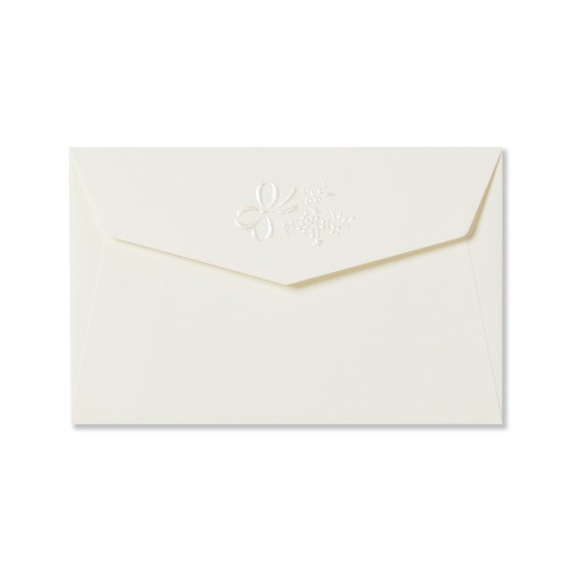 ミニメッセージカード用封筒 アンリュバンドゥー白