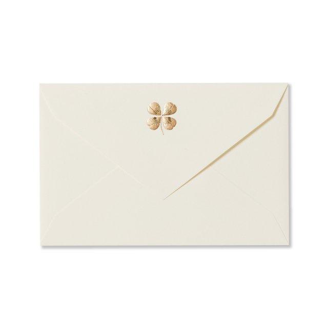 ミニメッセージカード用封筒 四葉のクローバー