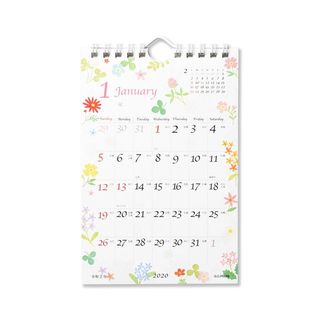 カレンダー フルール 卓上・壁掛