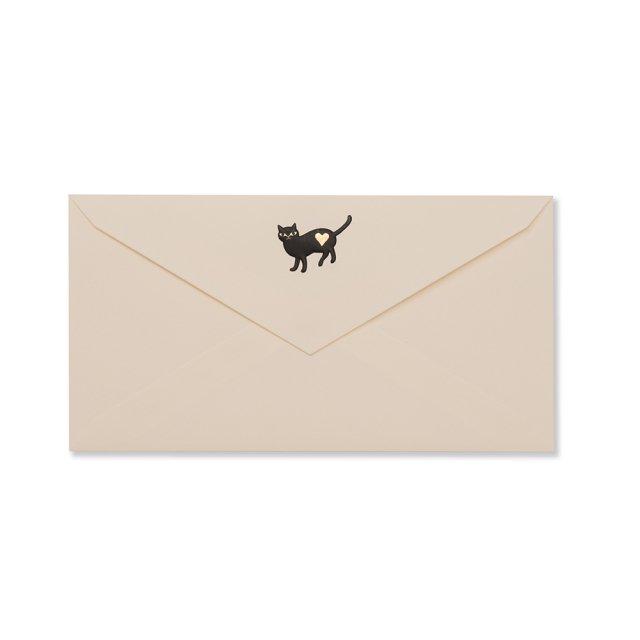 封筒 黒猫
