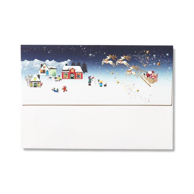 封筒 ハートフル クリスマス