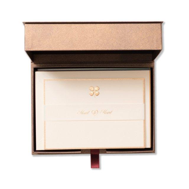 ショートメッセージカード BOX Good Luck ゴールド