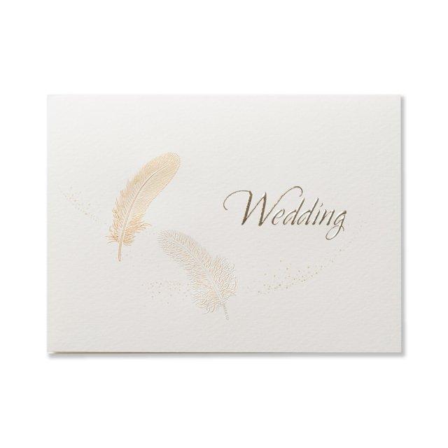 カード 羽根  WEDDING