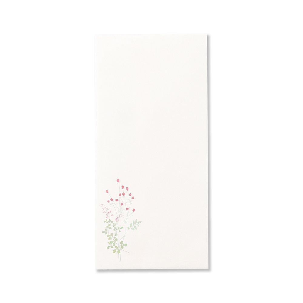紙司撰 封筒 野ノ花罫箋・紅