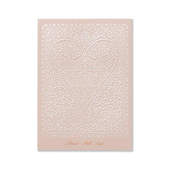 ふみ揃え便箋 ハート フルレース ピンク