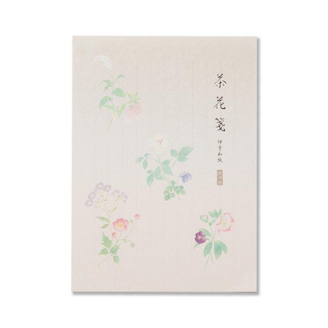 紙司撰 便箋 茶花箋 タテ罫入り