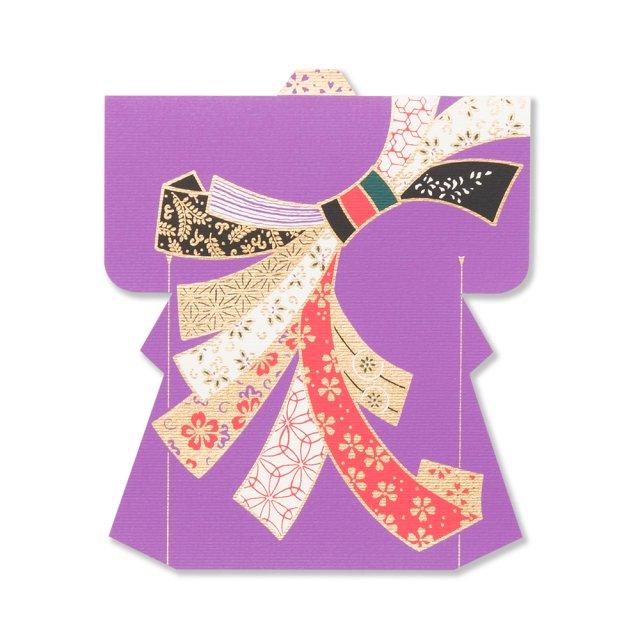 シーズンカード 型抜キモノ 紫