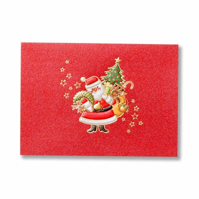 クリスマスミニカード サンタクロース