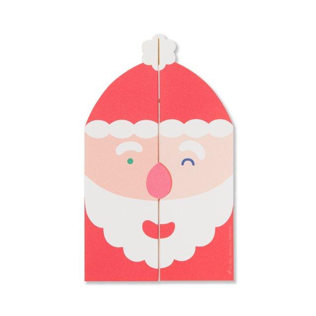 カード 四つ折 サンタ・スマイル