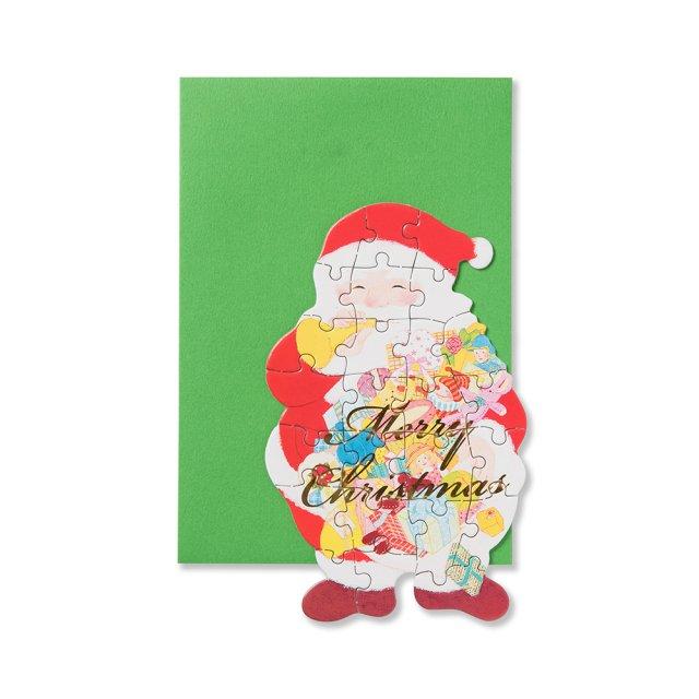 カード ジグソー サンタクロース
