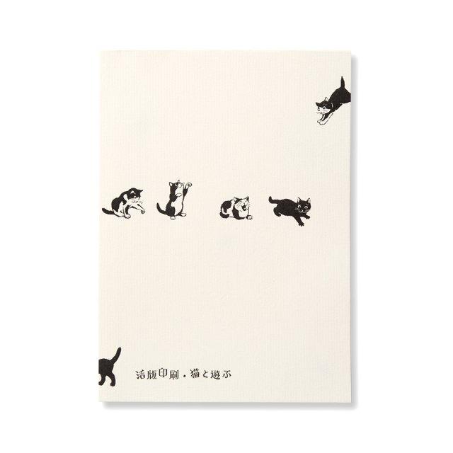 便箋 猫と遊ぶ