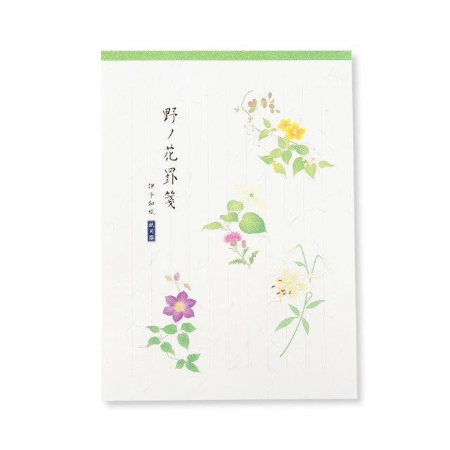 紙司撰 便箋 野ノ花罫箋