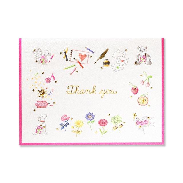 カード プレジール ピンク THANK YOU