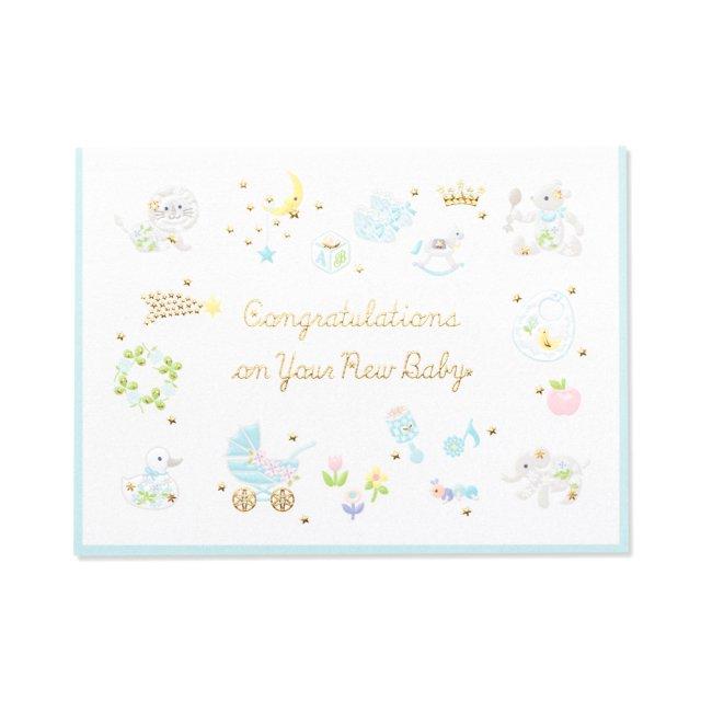 カード プレジール ペールブルー  BABY