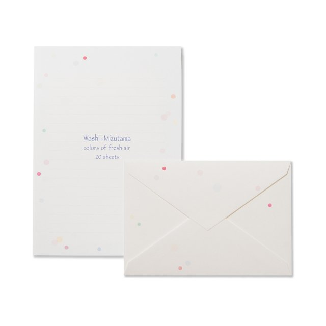 和紙 mizutama 便箋/封筒セット